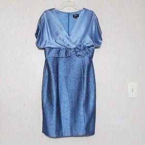 Adrianna Papell  size 12 Sky Blue DRESS Silk